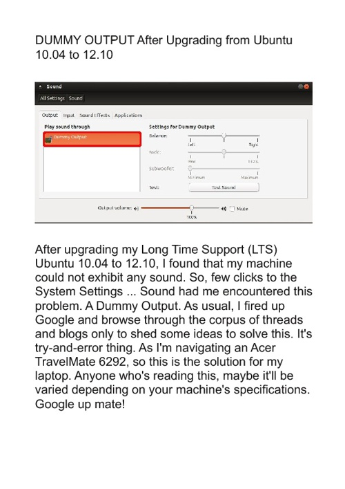 No Sound after Upgrading Ubuntu 10.04 to 12.10