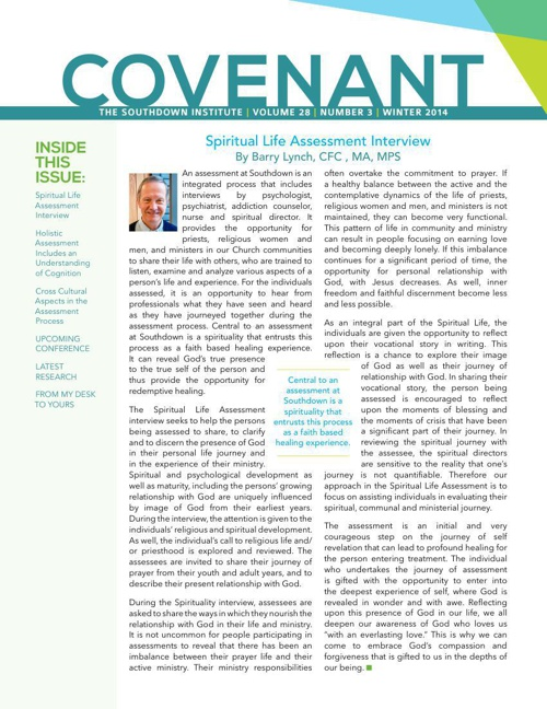 Covenant Winter 2014