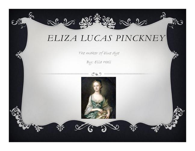 Eliza Lucas Pinckney
