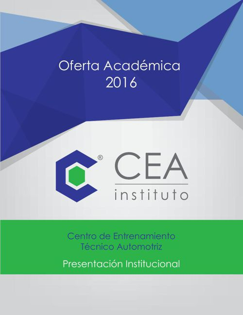 Oferta Academica 2016 -  Instituto CEA