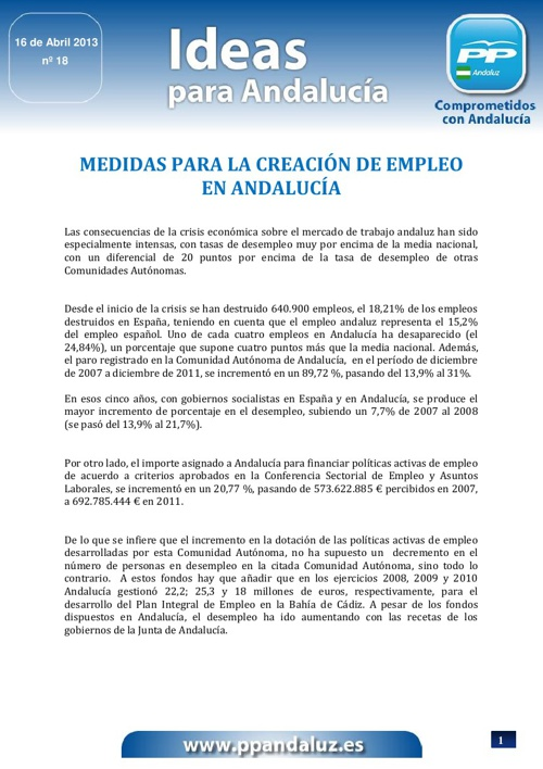 Creación de empleo en Andalucía