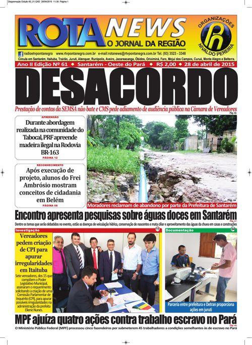 Jornal Rota News - Ano II Edição LXI - 29 de abril de 2015
