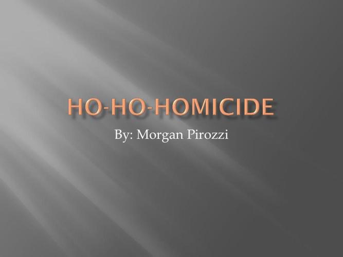 Ho-Ho-Homicide
