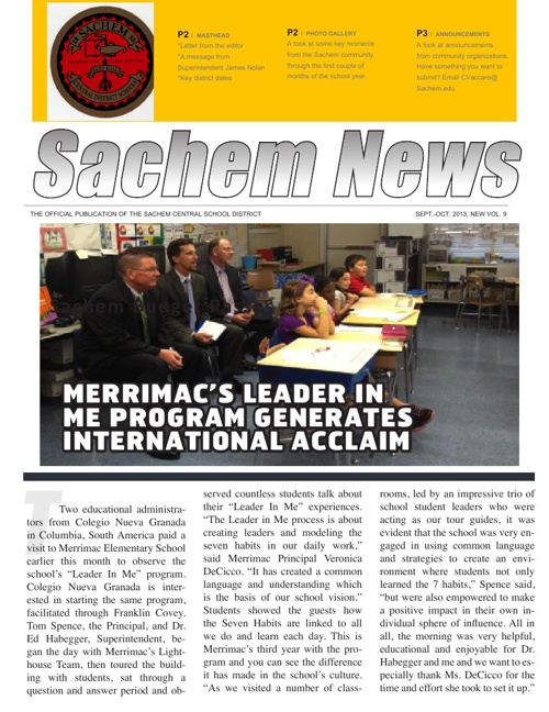 Sachem News: Sept-Oct 2013