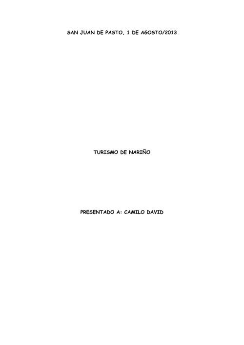 TURISMO DE NARIÑO