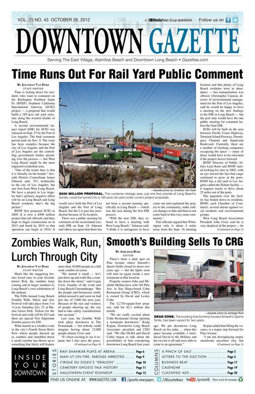 Downtown Gazette  |  October 26, 2012