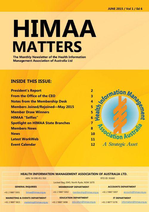 HIMAA Matters - June 2015