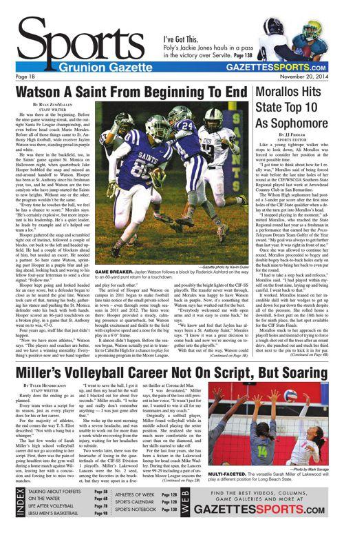 Gazette Sports | November 20, 2014