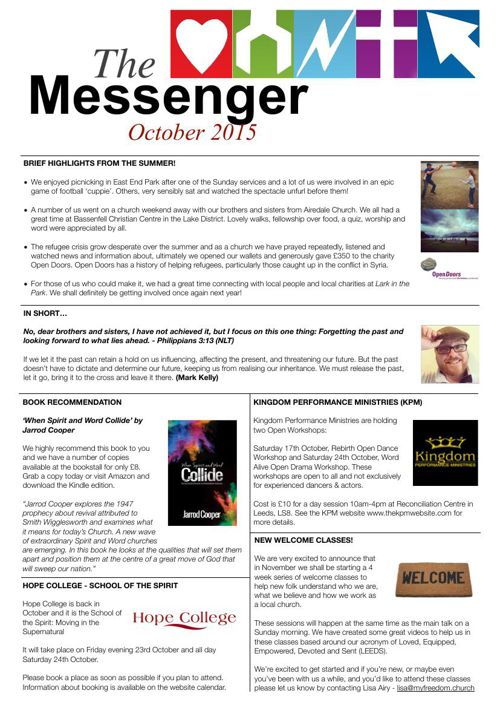 The Messenger - October 2015
