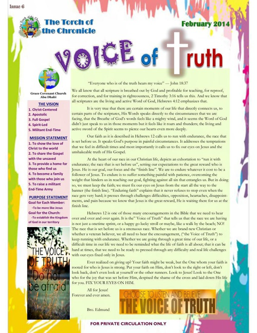 The Voice of Truth (6th Issue)