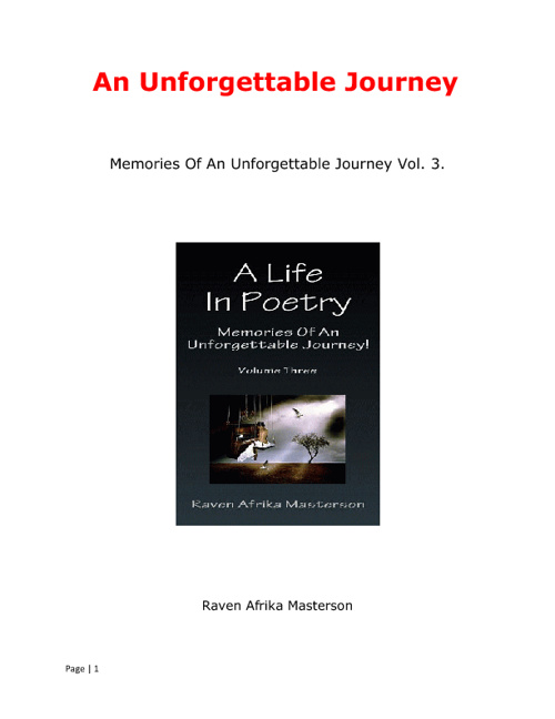 An Unforgettable Journey Volume 3
