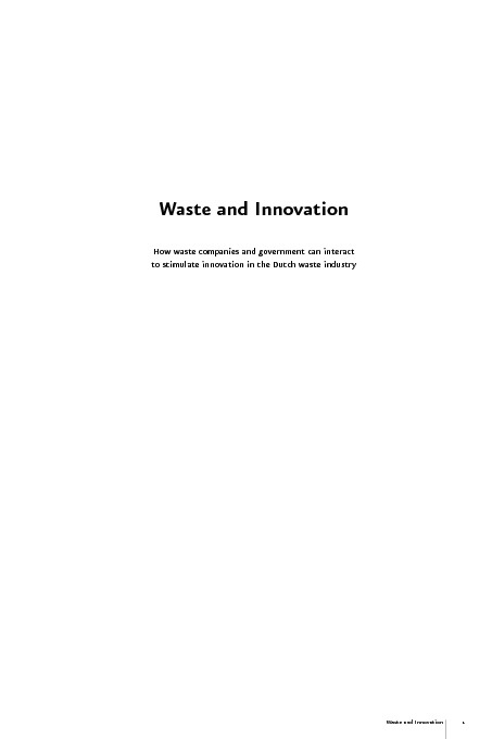 Waste and Innovation - M.A. de Bree