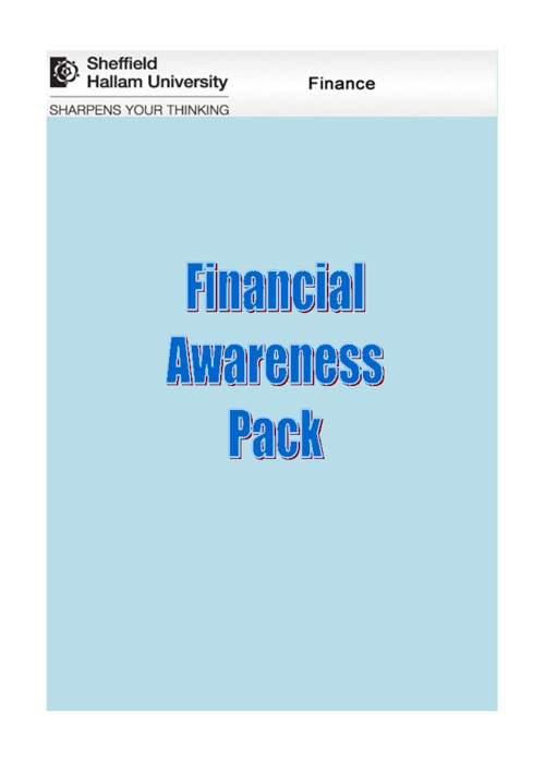 Financial Awareness Pack