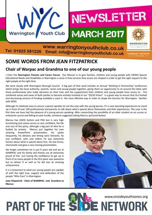 MARCH 2017 Newsletter