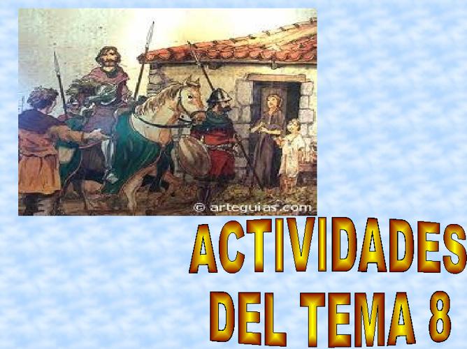 ACTIVIDADES TEMA 8