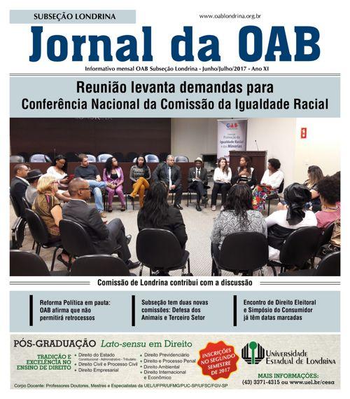 OAB Londrina Ed. 127 JunhoJulho2017 Versão Eletrônica