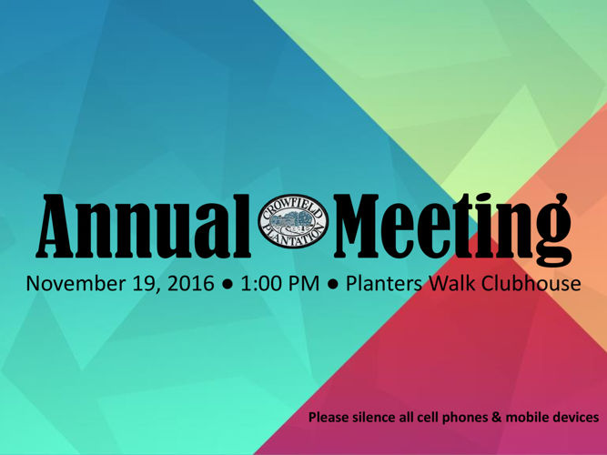 Annual Meeting 2016 Final Powerpoint