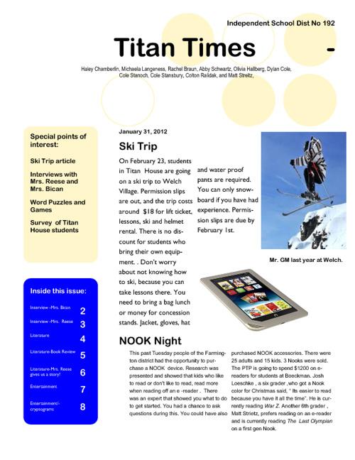 Titan Times-January 30, 2012
