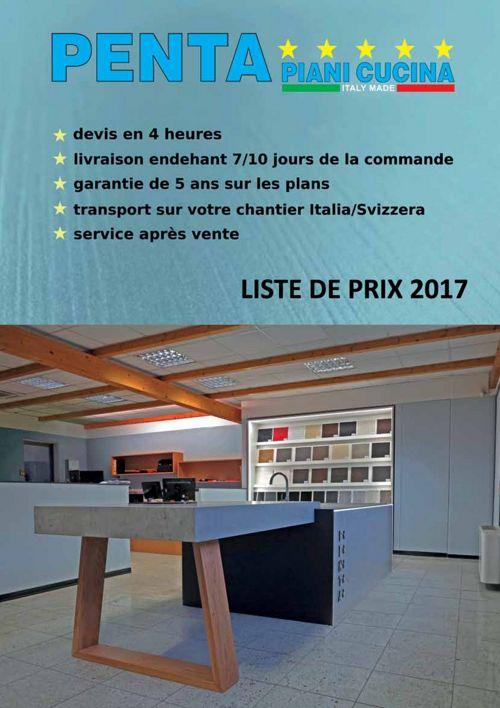 Pentastone - Listino 2017 (FR)
