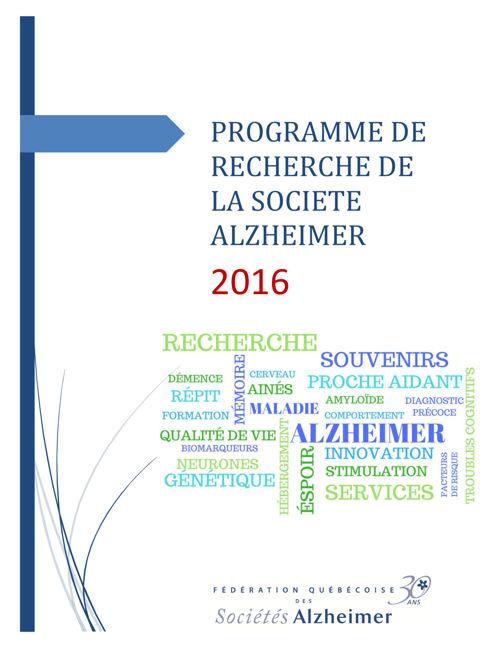 Programme de recherche 2016