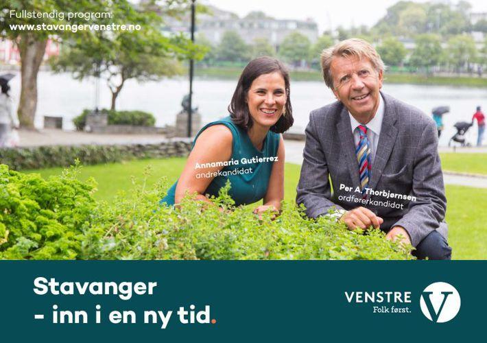 Stavanger Venstres hovedbrosjyre for 2015-2019