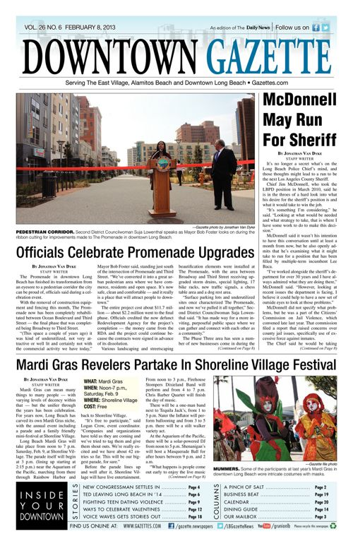Downtown Gazette     February 8, 2013