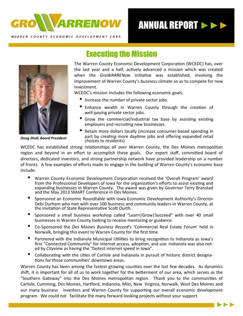 WCEDC 2013 Annual Report