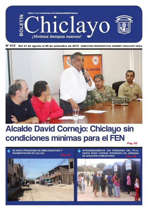"""Boletín """"Chiclayo"""" - N° 012"""