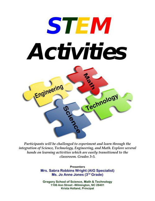 STEM Activities 2.15.14