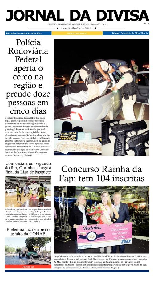 JORNAL DA DIVISA - Edição de 4 de Abril de 2012.