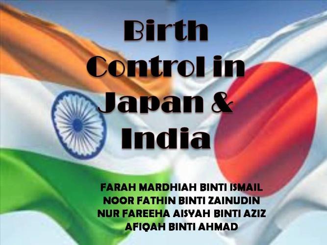 Birth Control in Japan & India