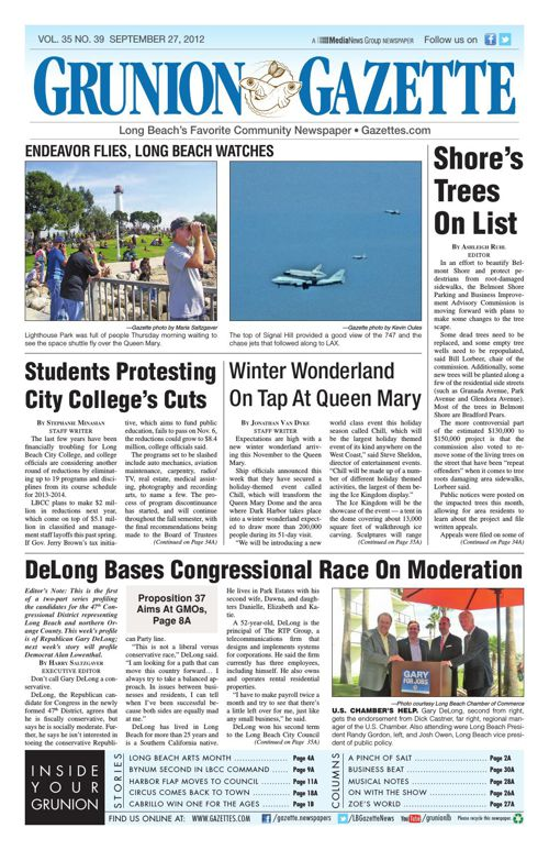 Grunion Gazette | September 27, 2012