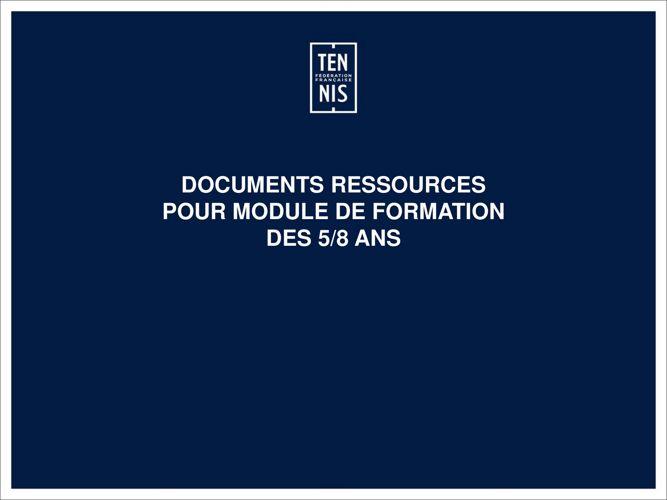 Ressources formateur FORMATION 5 8 ANS