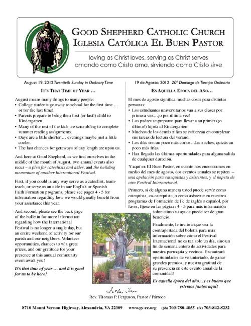GSCC Bulletin: August 19