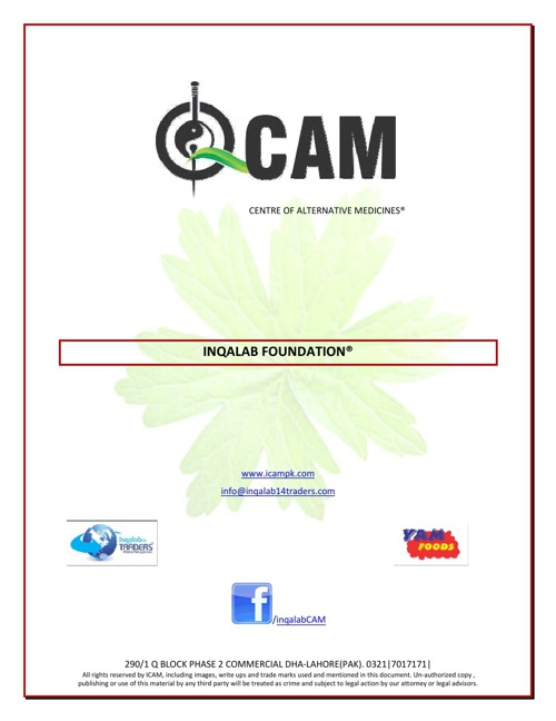 ICAM: Specialist in Acupuncture and Natural Medicines