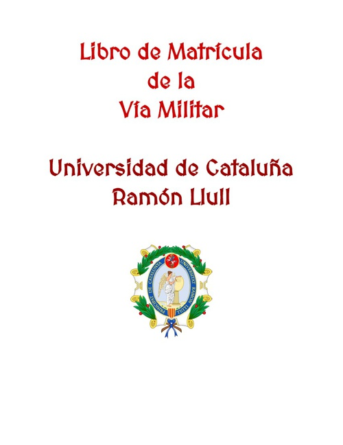 Libro de Matrícula Vía Militar