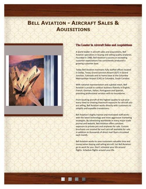 Bell Aviation - Aircraft Sales
