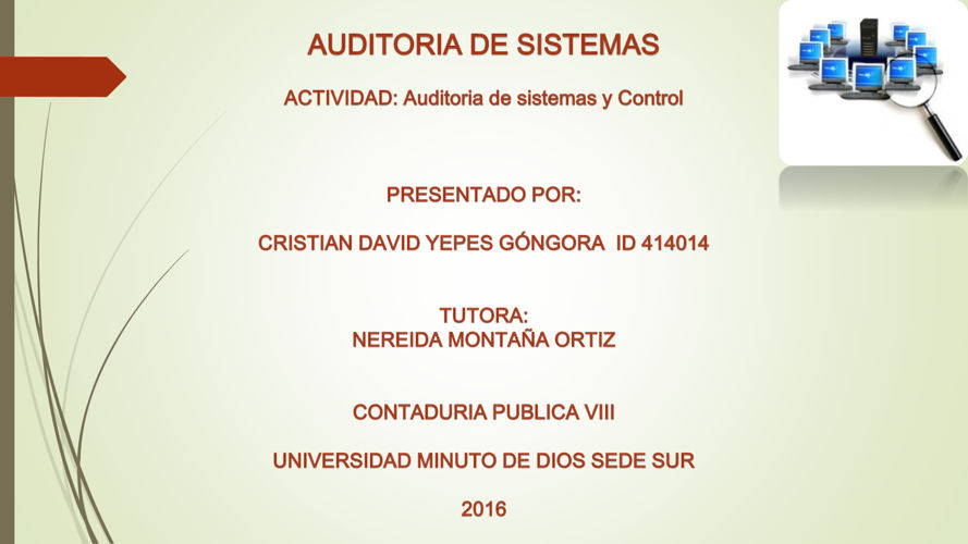 Auditoria y sistemas de control Cyepes VIII