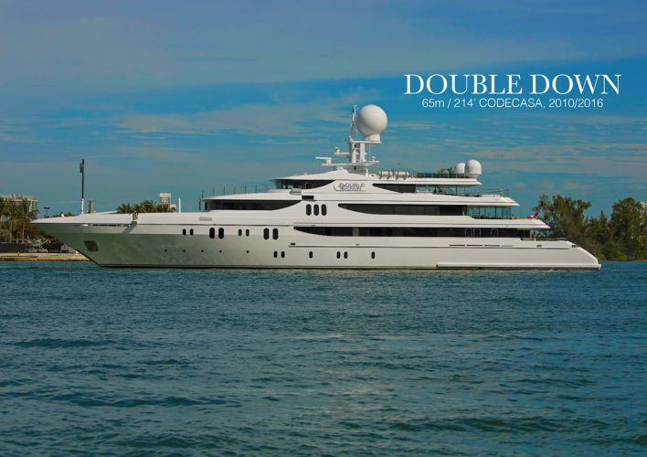 Double Down 65m 214' Codecasa superyacht