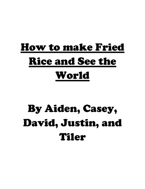 How to Make Fried Rice and See the World