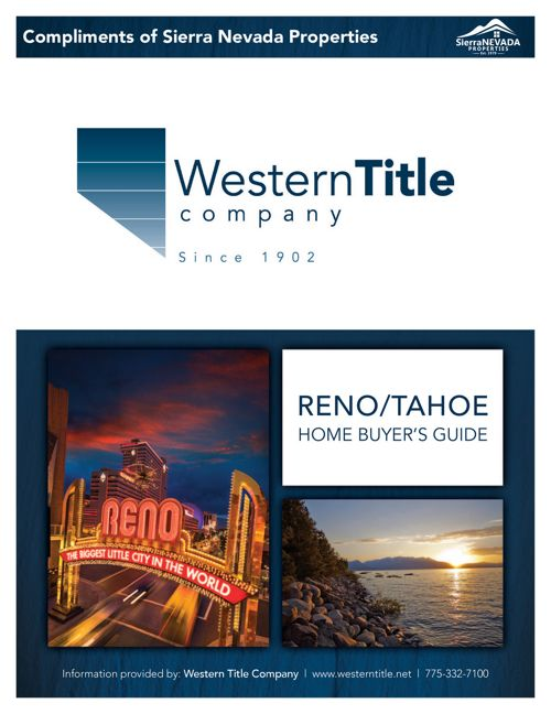 Reno/Tahoe Home Buyer's Guide