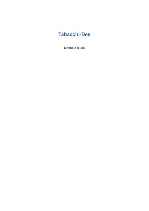 Guida all'uso di Tabacchi-Des