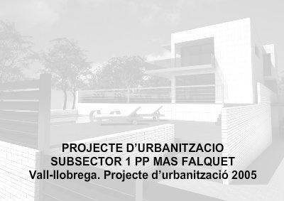 Urbanismo_Projecte Urban PP Falquet