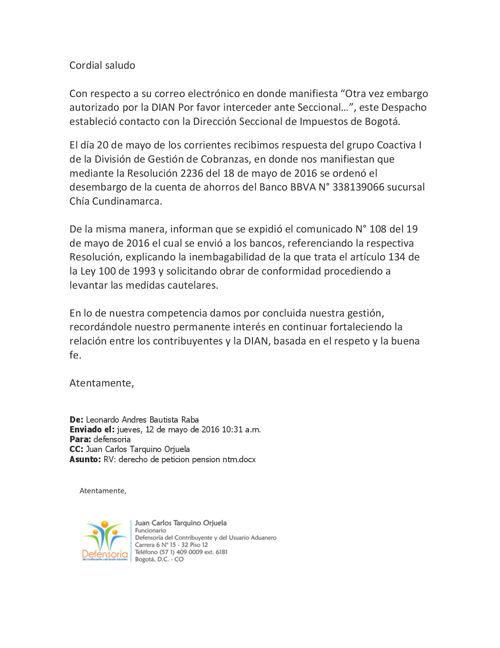 Respuesta VE-004063 Defensoria de contribuyente