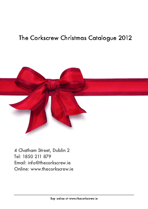 The Corkscrew Wine Merchants Christmas Wine Gift Catalogue 2012