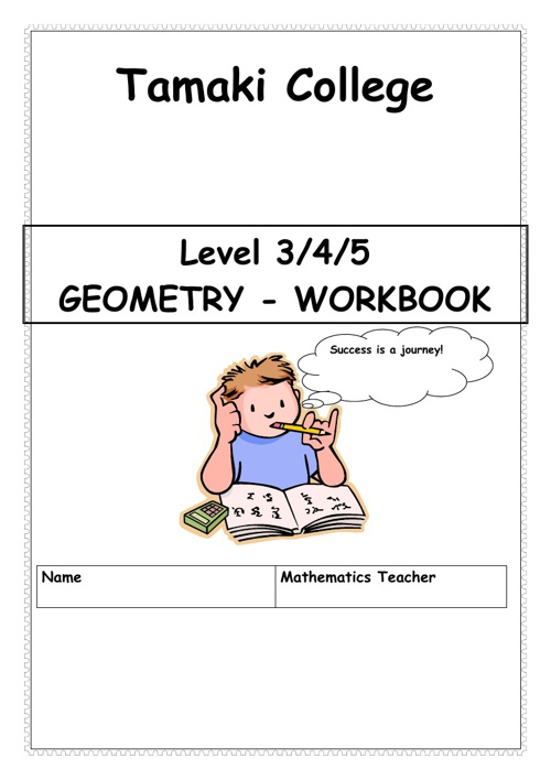 geometry workbook B with solutions