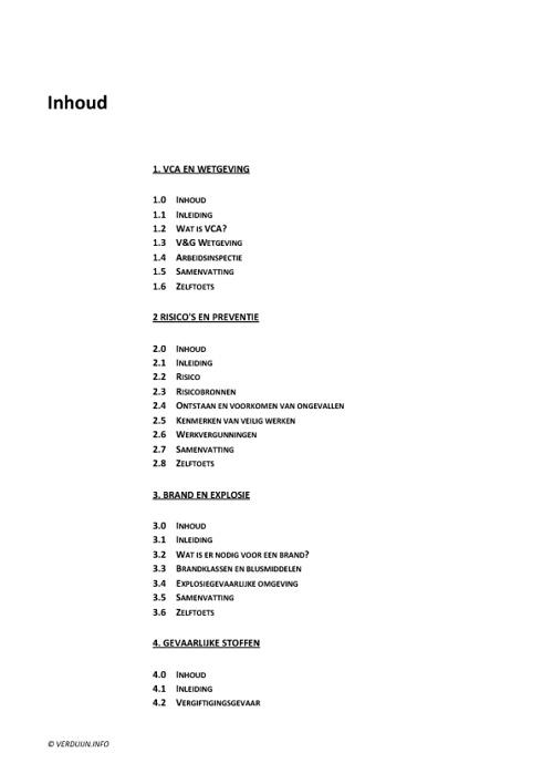Voorbeeld Cursusboek Basisveiligheid VCA