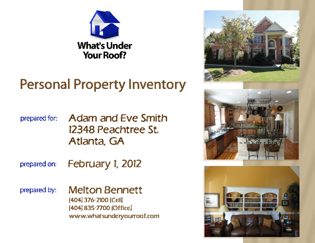 Home Inventory Sample Report