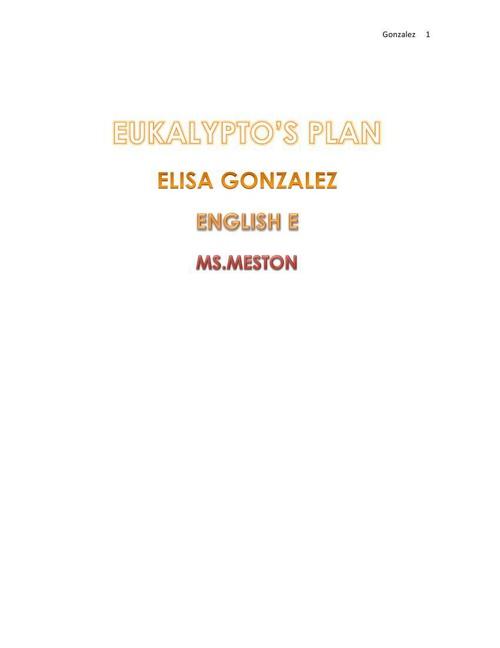 Eukalypto's Plan