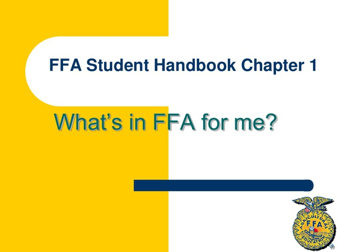 FFA Handbook